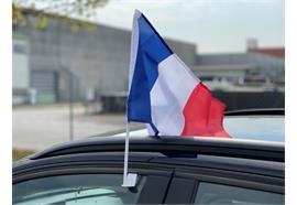 Autofahne - Frankreich  30x45cm / 1 Paar  Material: Polyester
