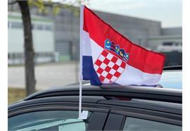 Autofahne - Kroatien  30x45cm / 1 Paar  Material: Polyester