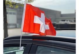Autofahne - Schweiz 30x45cm / 1 Paar Material: Polyester