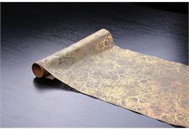 """Dekostoff """"imitiertes"""" Leinengewebe gold 36cm x 300cm gerollt und geschnitten, Design"""