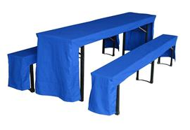 Festbank-Garnitur Hussen Farbe: Blau