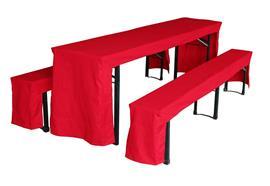 Festbank-Garnitur Hussen Farbe: Rot