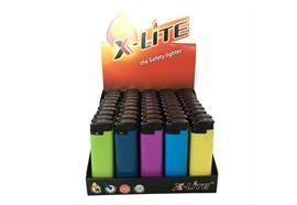 Feuerzeug Electronic X-Lite MAXI 5 Farben Uni