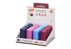 Feuerzeug Unilite U-250 Turbo Windproof Flame 4 Farben assortiert Soft Touch Rubber