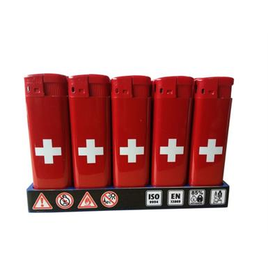 Feuerzeuge Major M8 Schweiz HC Red / Red Top