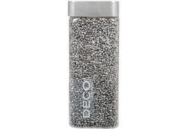 Glitter Granulat 2-3mm silber  Flasche: eckig  Inhalt: 825gramm / 550ml  Deckel: silber
