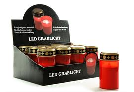 Grablicht LED 12 Stk / Display Batterienbetrieben
