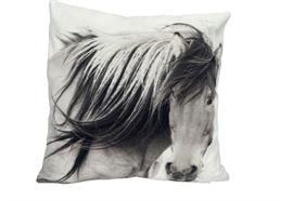 Kissen mit Pferd Motiv  mit Reisverschluss  Grösse: 40cmx40cm  Digitaldruck einseitig