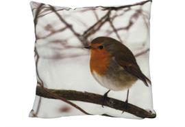 Kissen mit Vogel Motiv  mit Reisverschluss  Grösse: 40cmx40cm  Digitaldruck einseitig