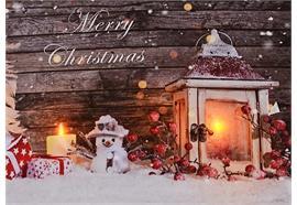 LED Bild aus Canvas zum Stellen Motive: XMAS mit Schriftzug: Merry Christmas 2 LED