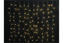 LED Lichtervorhang mit 10 Strängen  Total 100 LED  B: 100cm H: 100cm  Pro Strang 10 LED