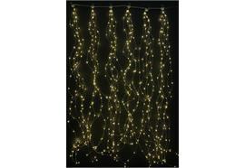 LED Lichtervorhang Outdoor 540 LED - Microlight B:75cm H:150cm warm weisses Licht
