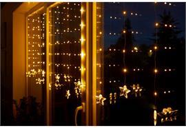 LED Lichtervorhang Outdoor  Total 11 Stränge mit Total 83 LED  H: 100cm B:220cm