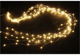 LED Micro Draht Lichterkette mit 200 LED Lichter, Länge String:150cm warm weisses Licht