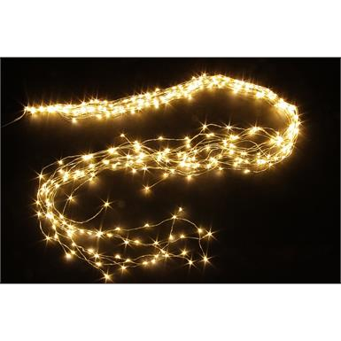 LED Micro Draht Lichterkette mit 350 LED Lichter Länge String: 150cm warm weisses Licht