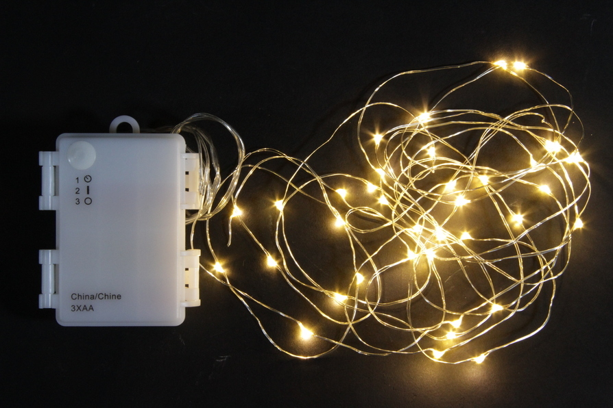 led micro lichterkette outdoor batteriebetrieben 40 led weihnachten dameco ag. Black Bedroom Furniture Sets. Home Design Ideas