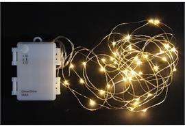 LED Outdoor Micro Draht Lichterkette 40 LED Länge: 420cm silber Draht