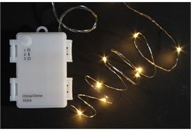 LED Outdoor Micro Draht Lichterkette 80 LED Länge: 820cm silber Draht