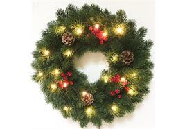 LED Weihnachtskranz mit 30 LED  Farbe: Grün  D:38cm
