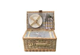 Picknick Korb für 2 Personen - Grösse: 38x26x20cm Korb Material: Weidenholz/Holzspäne