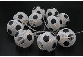 Solar LED Lampion Kette mit 10 LED  Fussball, L: 180cm+ Anschlusskabel  100cm, Outdoor
