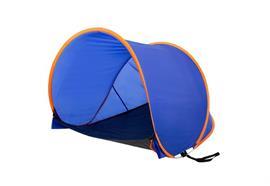 Strandmuschel Zelt UV-Resistent Farbe Blau, 100% Polyester L:145cm B:110cm H:105cm