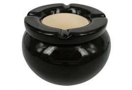 Sturmaschenbecher schwarz D=10cm Keramik