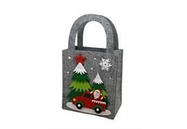 Tasche XMas aus Filz H:26.5cm  Farbe: Grau  L:15cm B:9cm H:26.5cm