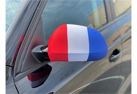Überzug für Rückspiegel - Frankreich  22x14cm / 1 Paar  Material: Elastische Gewebe