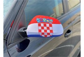 Überzug für Rückspiegel - Kroatien  22x14cm / 1 Paar  Material: Elastische Gewebe