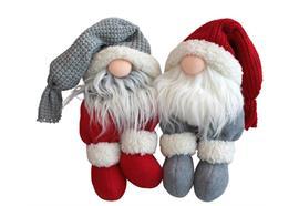 Weihnachtswichtel sitzend 2ass.  Farbe: Rot / Weiss  L:17cm B:14cm H:55cm
